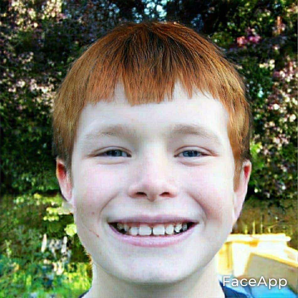 Kris as a Boy by Greg BartonwithRed Hair
